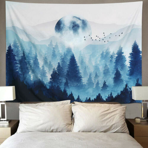 Mountain and Forest Tapestry Wall Hanging Sunset Tapestries Home Wall Decoration