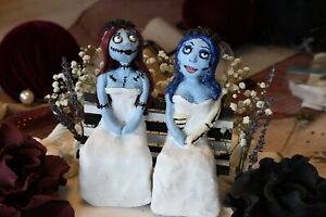 Tim-Burton-Handmade-Halloween-Wedding-Cake-Topper-Sally-Corpse-Bride-Emily