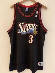 NBA-Philadelphia-76ers-Sixers-Allen-Iverson-3-Champion-Jersey-Size-48-Vintage