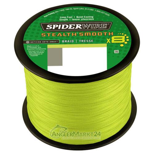 Spiderwire Stealth Smooth geflochtene Angelschnur 600m Stärken /& Farben
