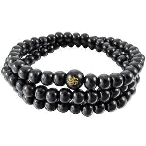 6mm Holz Armreif Tibetisch Buddhistische Sandale Halskette 108er Perlen Budd x1k