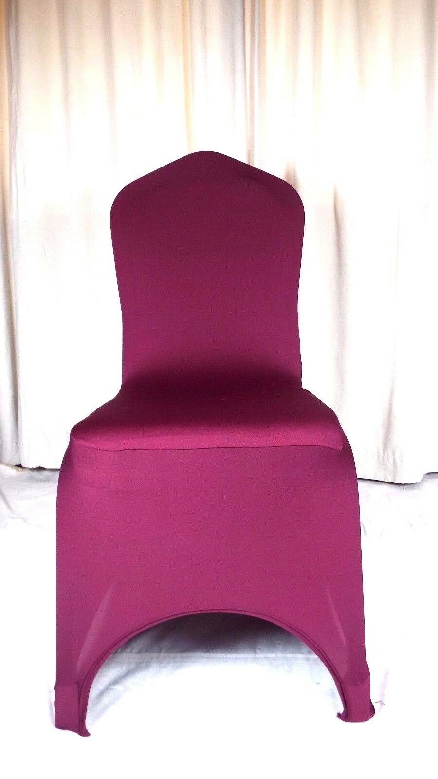 50 Bourgogne Spandex Chair Covers