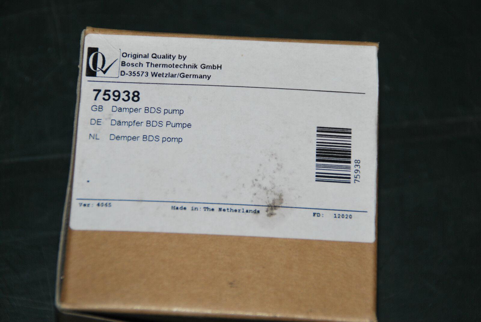 BOSCH NEFIT 75938 DÄMPFER BDS PUMPE DEMPER BDS POMP NEU
