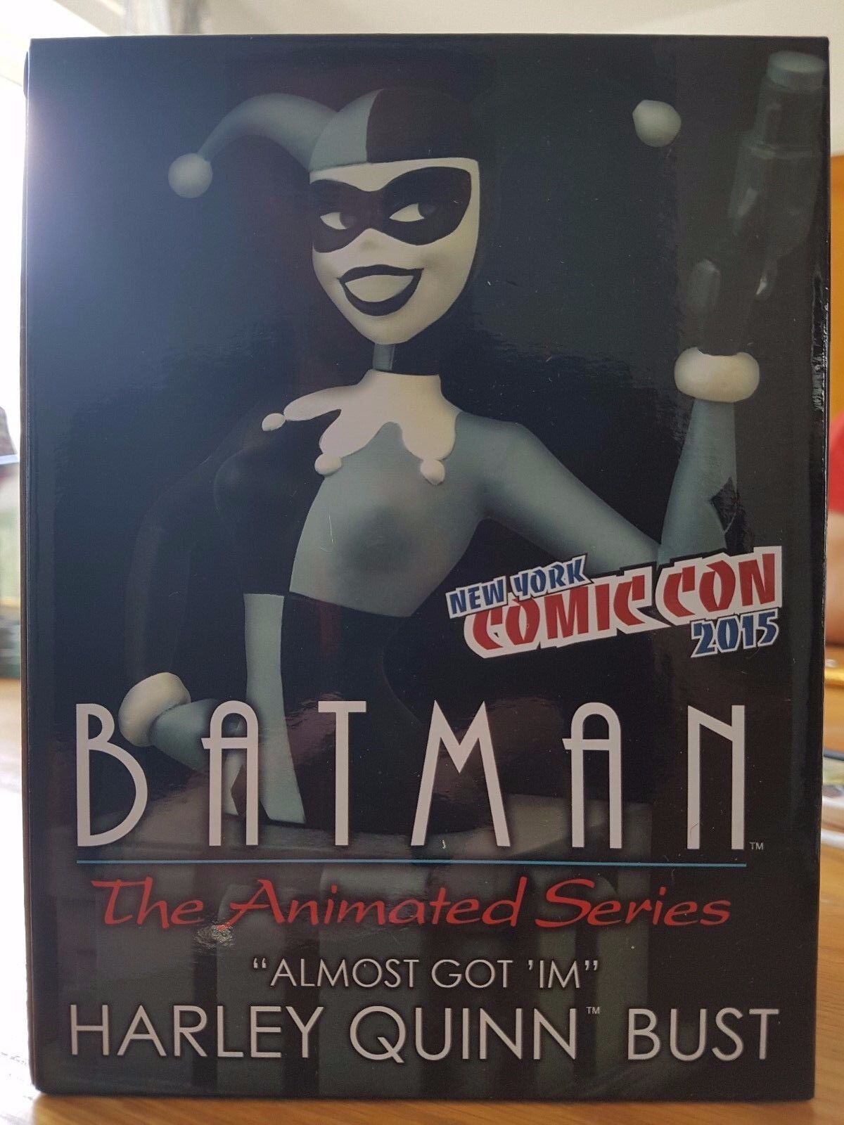Batman The Animated Series Harley Quinn Bust schwarz & Weiß NYCC 2015 UK Seller