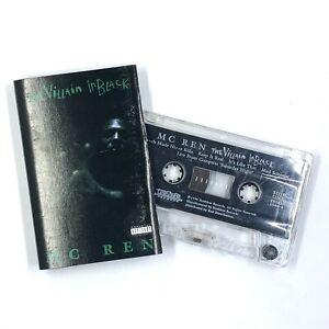 MC REN The Villain In Black Cassette Tape 1996 Rap Hip-Hop Ruthless Rare