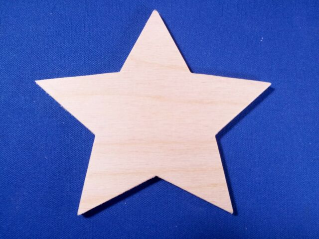 Star Wooden Craft Shape Sizes & Qtys Christmas Space Night Sky