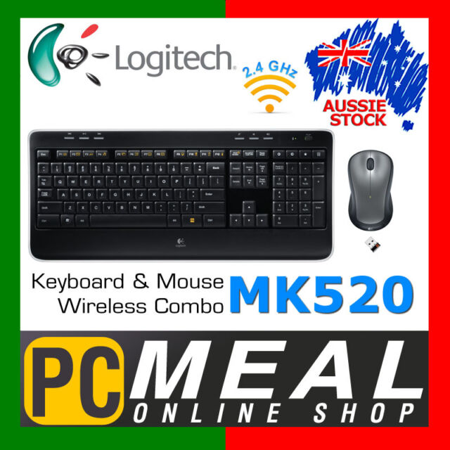 Logitech MK520R Wireless Combo MK520R Keyboard Mouse Bundle Desktop PC Laser