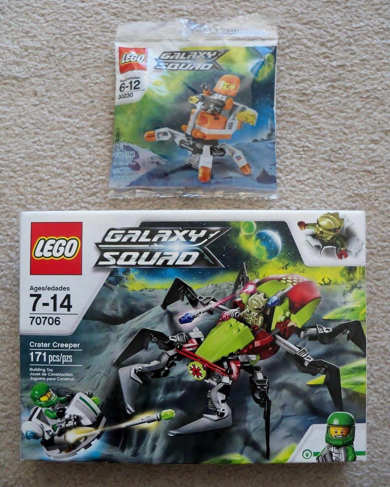LEGO Galaxy Galaxy Galaxy Squad - 70706 Crater Creeper & 30230 Mini Mech - New & Sealed 11bba3