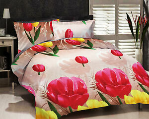 Dream-Decor-Polyester-Double-Bed-Sheet-With-2-Pillow-Covers-Red