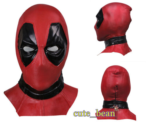 Deadpool 3D Mask Cosplay Costume Prop Adult Latex Halloween Full Face Party Mask