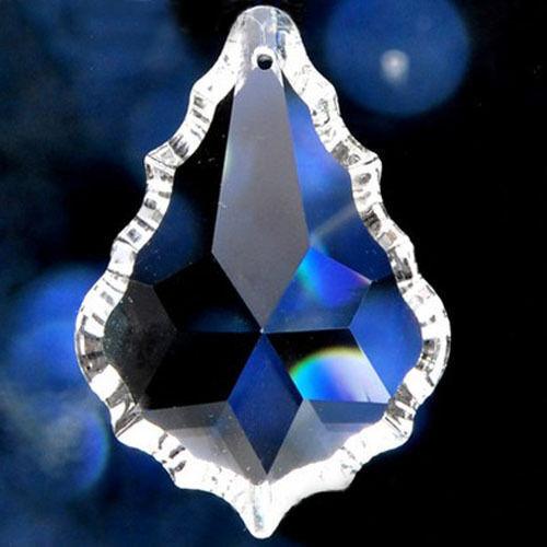 10PCS Clear Chandelier Glass Crystals Lamp Prisms Parts Suncatcher Pendants 50MM