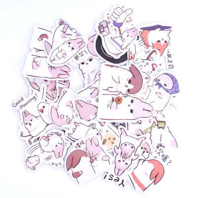 Cute 2 Packs Cartoon Chubby Rabbit Sticker Scrapbooking Diary DIY Decoration Kid