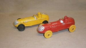 Lot-Of-2-Vintage-Auburn-Rubber-Indy-Style-Race-Cars