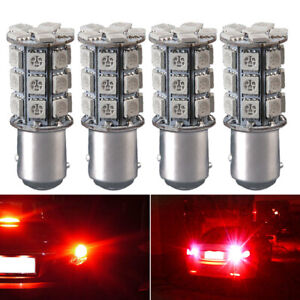 12V-1157-27-SMD-5050-Puro-LED-Rosso-Lampadine-Freccia-Coda-Freno-Stop-Lampada