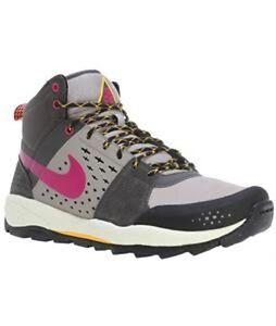 a012040c614 Nike AIR ALDER MID sneakers Suede Men s 599660 060 Black Grey NEW Sz ...