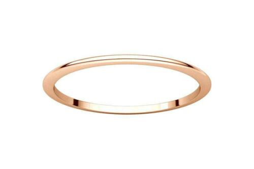 BRAND NEW 10k Yellow White Rose Gold Dainty Thin 1mm Wedding Band Ring Size 4-9