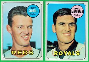 Lot-13-Diff-1969-Topps-Commons-Includes-High-039-s-EX-MT-NM-Baseball-Cards