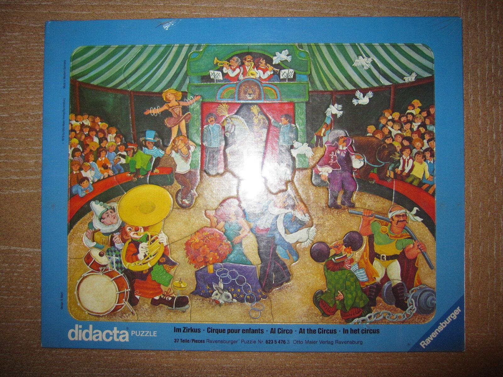 fantastica qualità DIDACTA PUZZLE RAVENSBURGER AL CIRCO 37 pezzi pezzi pezzi - 1979  spedizione gratuita!