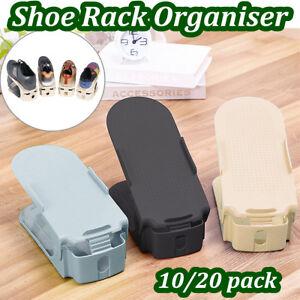 10-Pack-Adjustable-Easy-Shoe-Rack-Storage-Organizer-Slot-Shoe-Space-Saver-Holder