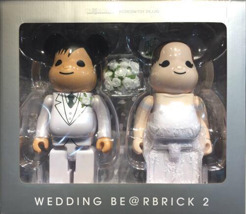 Medicom Plus 2017 Expo Marriage 400/% Wedding Couple Bearbrick Be@rbrick Set