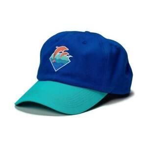 Pink Dolphin Men/'s Collegiate Sky Black Snapback Hat Headwear Baseball Cap NWT