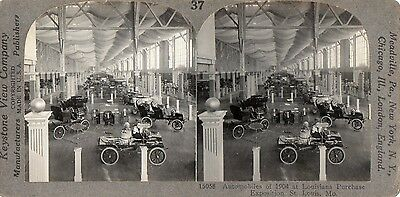 1904 Grout Steamer Automobile at Louisiana Purchase Exposition Stereoview Photo