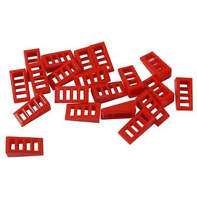 Lego Lot of 100 New Red Slope 18 2 x 1 x 2//3 with 4 Slots Pieces Parts Pieces