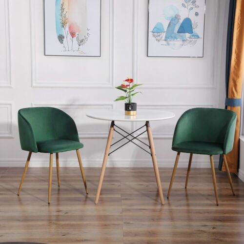 Set of 2 Velvet Armchairs Dining Chairs Accent Chairs Retro Lounge Chair Sustain Blue,Green,Dark green,Grey,Pink