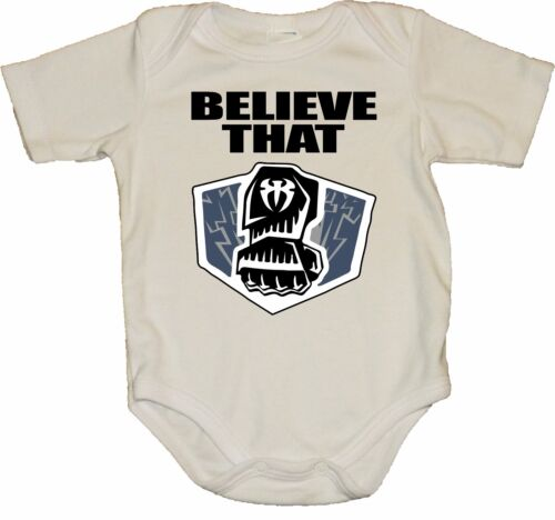 "Roman Reigns WWE /""Believe That/"" With Punch Baby Creeper//Bodysuits"
