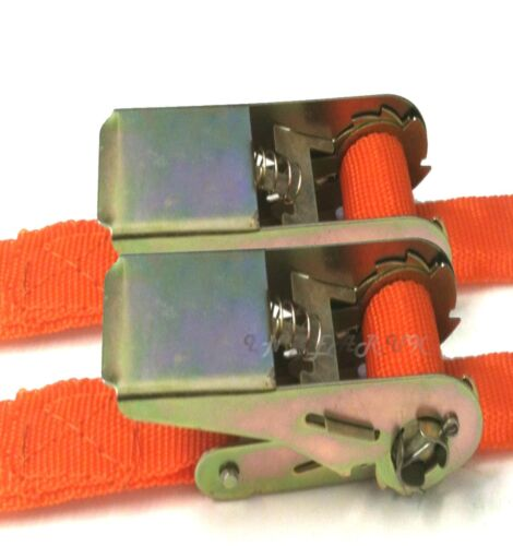 """2/""""x20/' PAIR Ratchet Tie Down Lash Strap Awning Trailer LONG Roof Rack Luggage"""