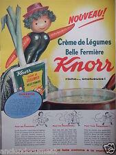 PUBLICITÉ 1959 KNORR CRÈME DE LÉGUMES BELLE JARDINIÈRE - ADVERTISING
