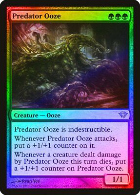 Predator Ooze FOIL Dark Ascension NM-M Green Rare MAGIC GATHERING CARD ABUGames