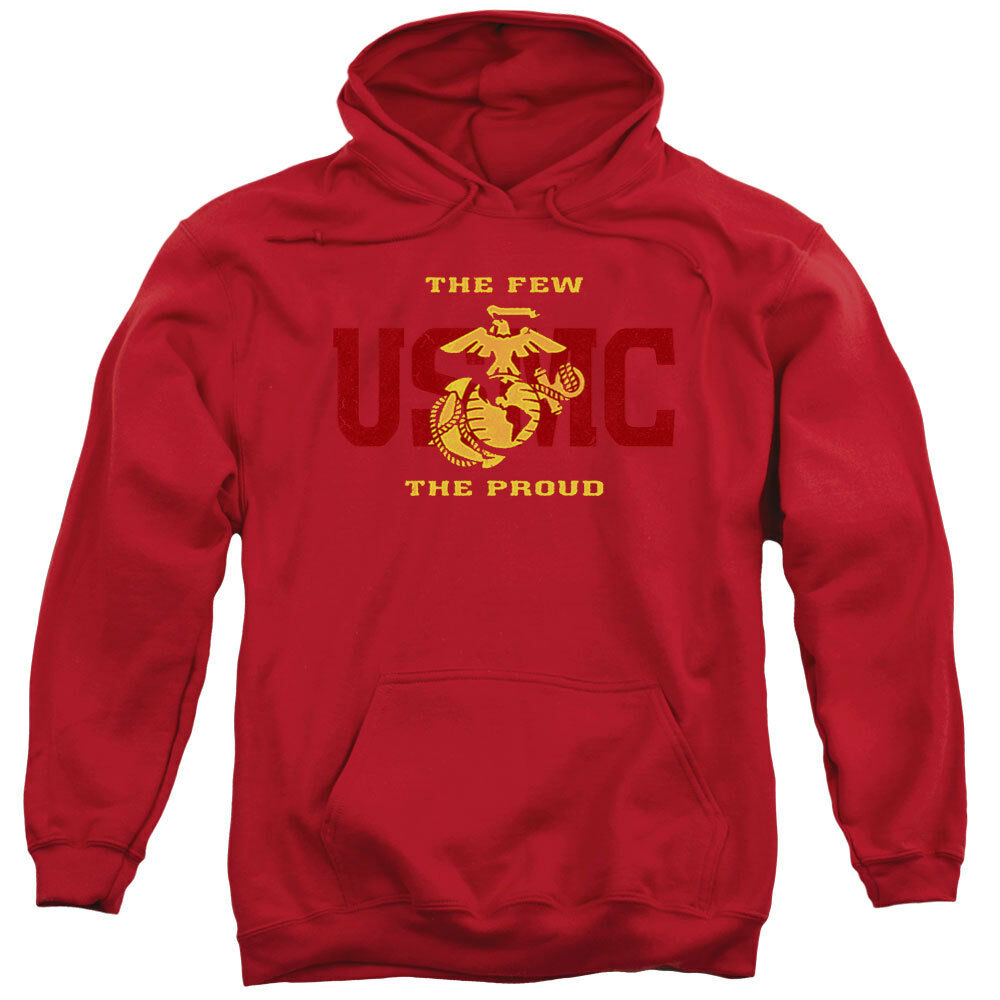 US Marine Corps The Few The Proud Red Adult Hoodie Hoody