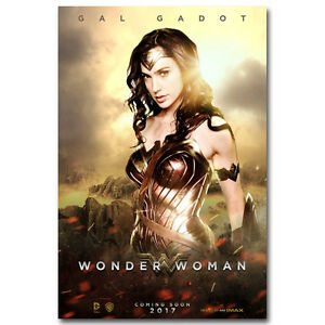 Wonder Woman Superhero Movie Art Silk Poster Gal Gadot ...