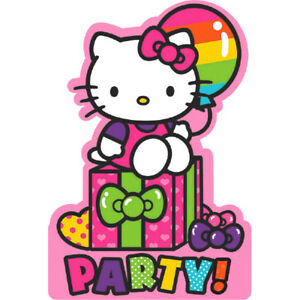 Details About Hello Kitty Invites And Thank You Cards Girls Birthday Party Invitations