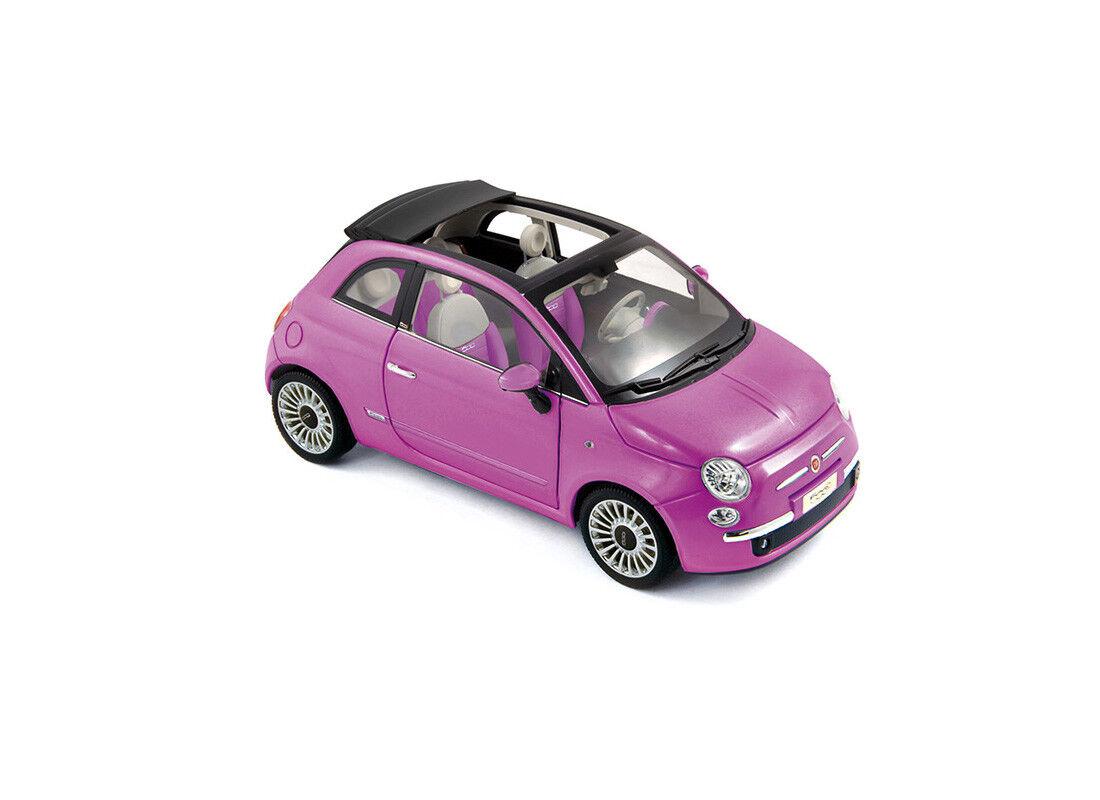 FIAT 500  si Rose  Edition (2010) Diecast Voiture Modèle 187752