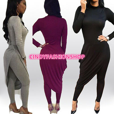 New Women 2PC  bandage bodycon jumpsuit  playsuit rompers women club party