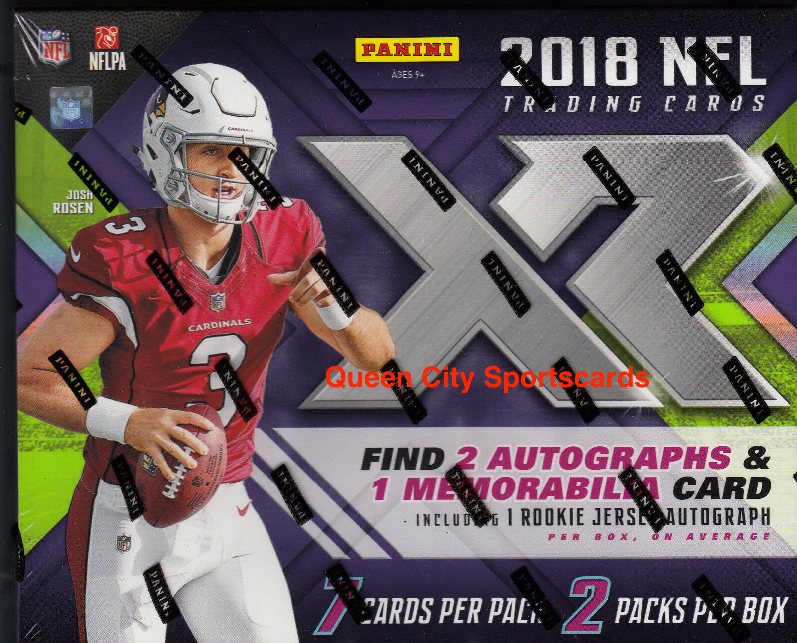2018 Panini XR Footbtutti Factory Factory Factory Sealed Hobby scatola 5a5