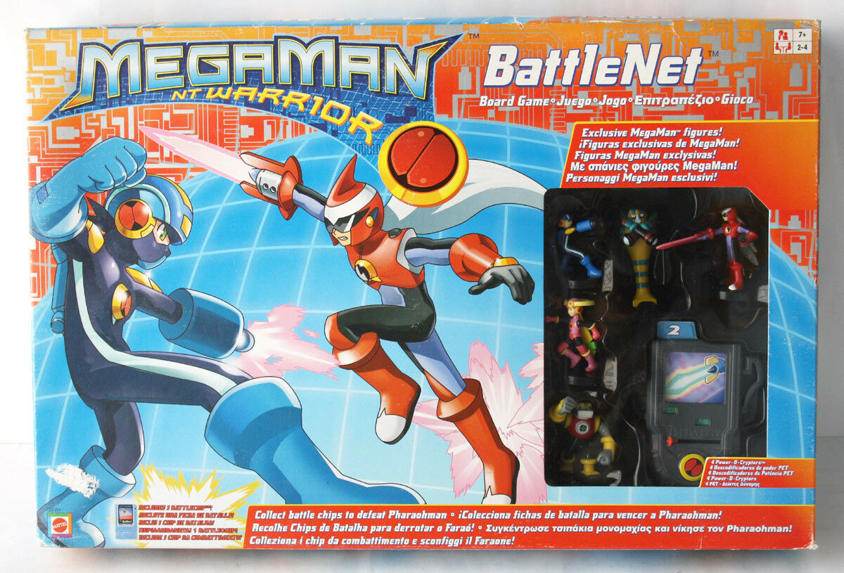 RARE 2004 MEGAMAN NT Warrior Battle net Board Game +1 puce MATTEL Neuf Scellé