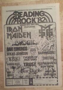 Reading-rock-festival-Maiden-1982-press-advert-Full-page-27-x-38-cm-mini-poster
