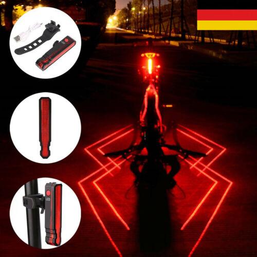 LED Fahrradlicht USB Fahrradbeleuchtung Fahrradlampe Scheinwerfer Rücklicht DHL