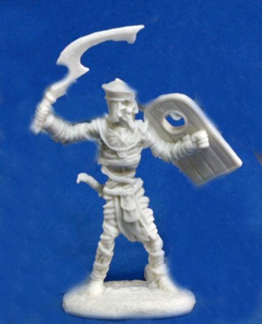 1 x MOMIE GUERRIER - BONES REAPER figurine miniature jdr d&d rpg mummy undead