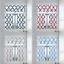 3PC Geometric Design Blackout Rod PocketWindow Curtains Tier Valance Kitchen 7LO