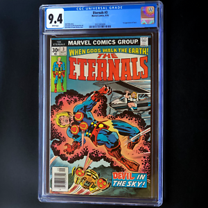 THE-ETERNALS-3-CGC-9-4-WHITE-PGs-1st-APP-SERSI-MOVIE-COMING-Marvel-1976