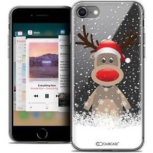 Coque-Crystal-Gel-Pour-iPhone-8-4-7-034-Extra-Fine-Souple-Noel-2017-Cerf-au-Bonne