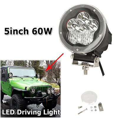 CREE 5inch 60W Driving Light LED Work Light Spot Combo Offroad Fit For F150 F250