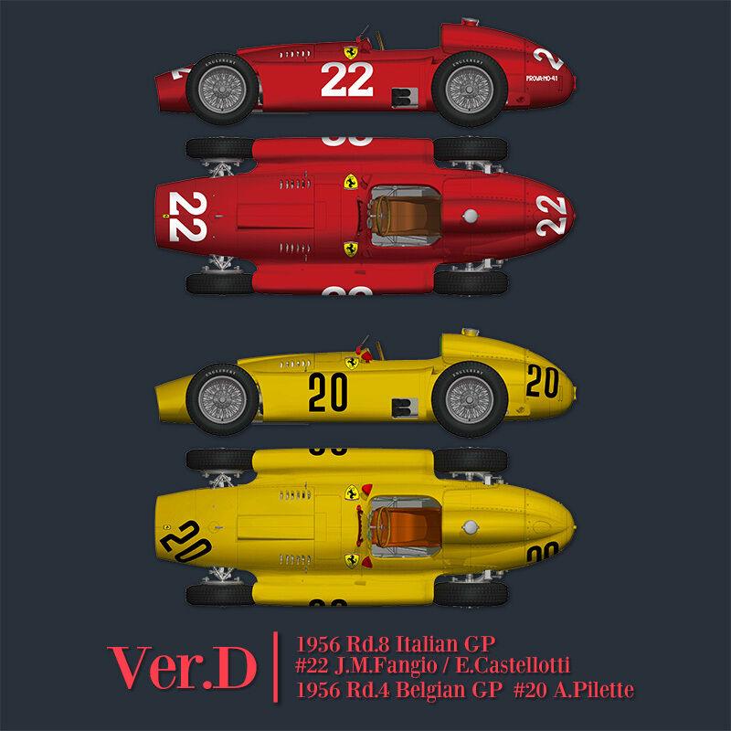 Mfh 1 12 Ferrari D50 Ver.d 1956 Rd.4 Belga Gp   Rd.8 Italiano Gp Completo Detail