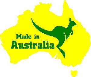 Map Of Australia Logo.Details About Australian Map With Kangaroo Made In Australia Aussie Logo Car Decal Sticker