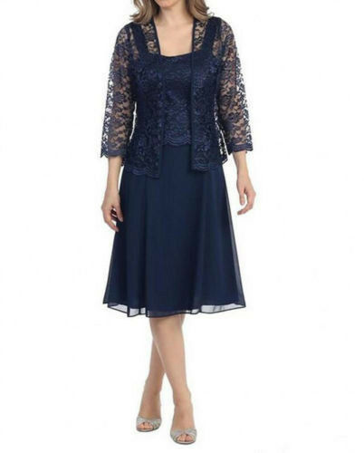 Tow Pieces Jacket Mother Of The Bride Dresses Chiffon Short Formal Evening Dress