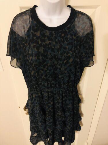 Madewell Inkspot Leopard Print Radiant Dress Tiere